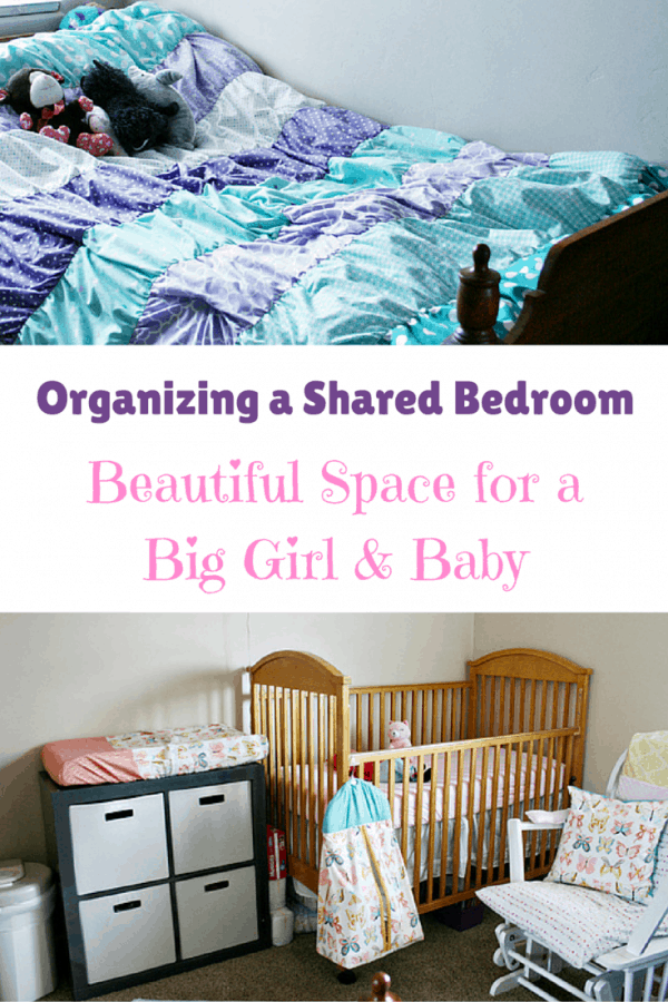Organizing a Shared Bedroom - A Beautiful Space for a Big Girl & Baby #SnugDryUltra #ad