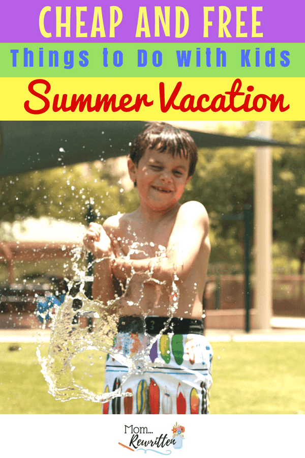 Looking for cheap, free and FUN ways to entertain your kids at home during their summer vacation? There are dozens of ideas that kids of all ages will love with these ultimate boredom-busting summer staycation ideas. #SummerBreak #Staycation, #FreeforKids #Summer #CraftsforKids #GamesforKids #CheapVacation #Summertime