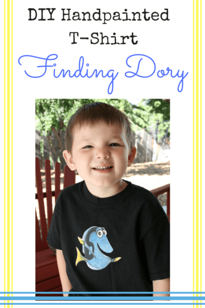 DIY Handpainted Finding Dory T-Shirt