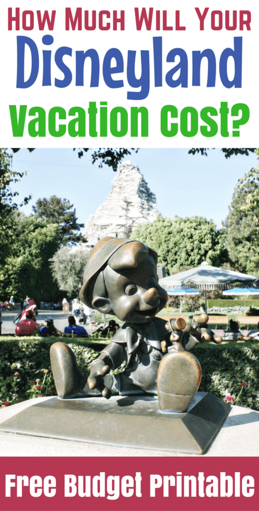 How Much Will a Disneyland Vacation Cost? - Check out this Free Printable Checklist and tons of money saving ideas.