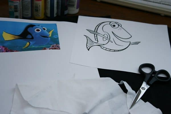 Paint Your Own Finding Dory T-Shirt