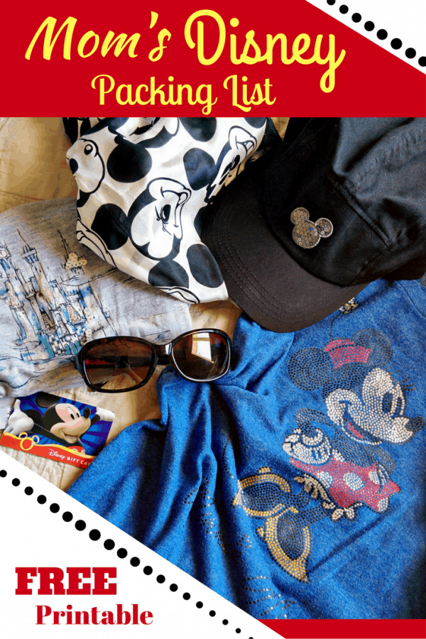 Don't forget the essentials on your next Disney vacation! Mom's Disney Packing List with FREE Printable!