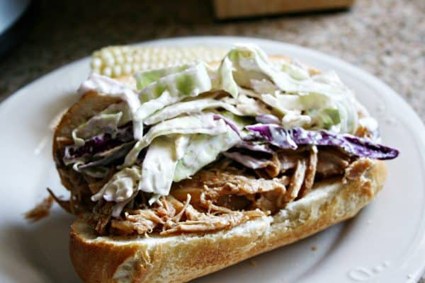Slow Cooker Pulled Pork Sandwiches with Tangy Slaw