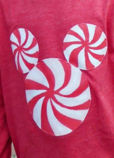 Peppermint Mickey Holiday T-Shirt Disney DIY