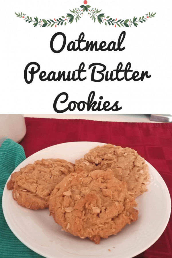 "Oatmeal Peanut Butter Cookies Recipe with ""healthier for you"" ingredients!"