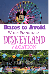 Planning a Disneyland Vacation? These are the Dates to Avoid!