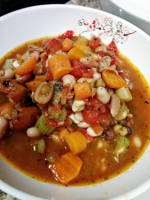 Never Cooked with Lentils? This Hearty Lentil & Bean Soup is quick & delicious!