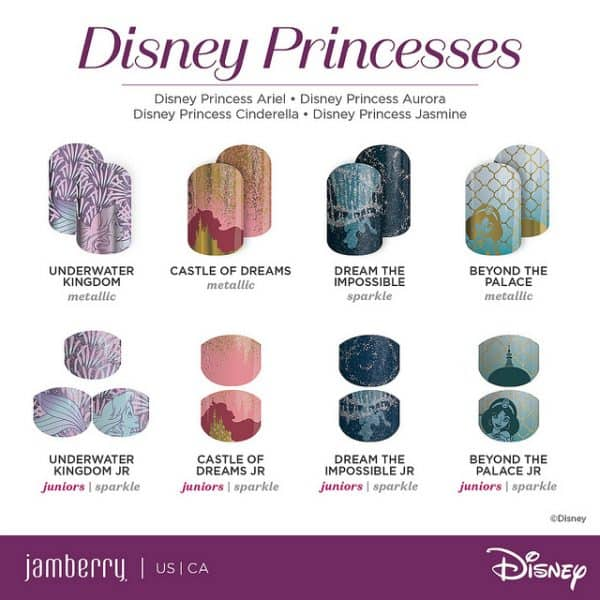 Disney Collection by Jamberry featuring All the Disney Princesses including Disney Princess Belle from Beauty and the Beast