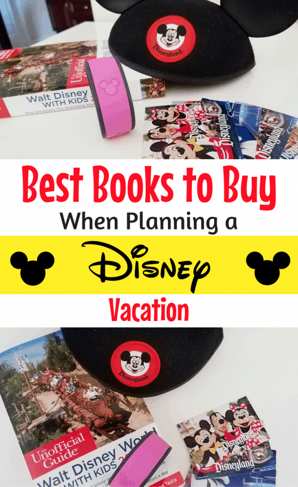 Planning a Disney trip? Pick up one of these recommended Walt Disney World or Disneyland books for everyone in your group! They are sure to make vacation planning easier and help you get into the Disney vacation mood too! #Disneyland #DisneyWorld