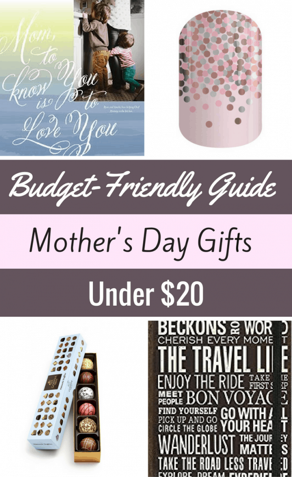 Looking for Mother's Day gifts under $20? Check out this budget-friendly guide with items to make mom (and your wallet!) happy!