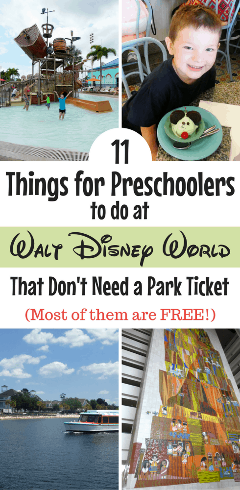 There are dozens of things to do at Disney World with a preschooler. Here's what to do on a non-park day that doesn't require a ticket (and many are free!)