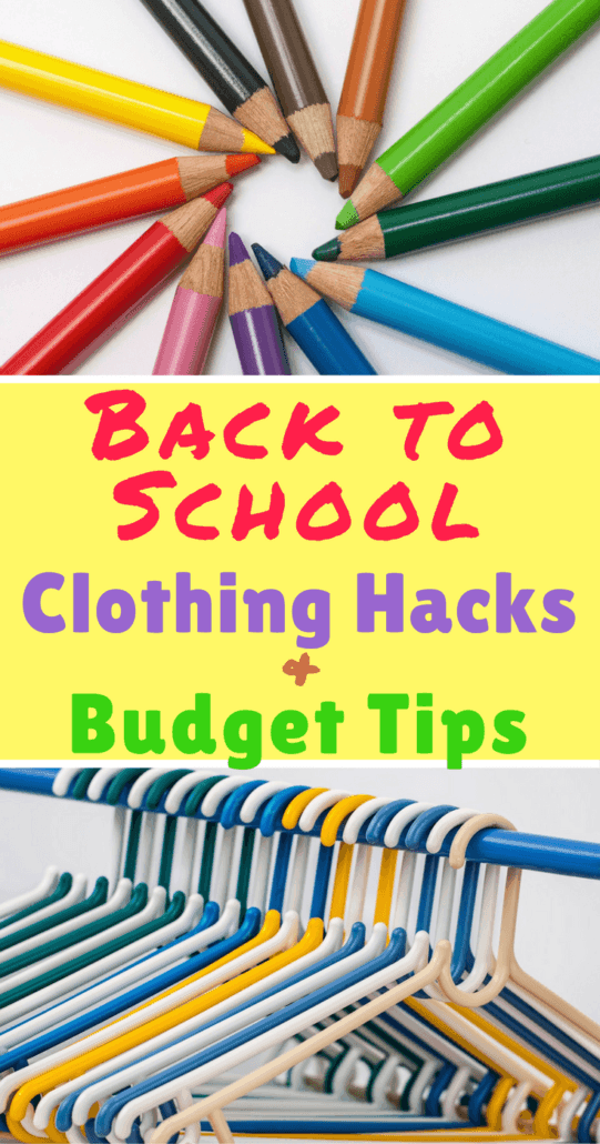 These 7 back to school clothing hacks help streamline the morning routine, save money and still have your kids looking cute for school!