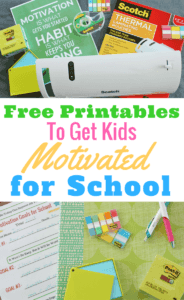 #ad Want to get kids motivated for school? Click through for these FREE printables including motivational posters and goal sheets.