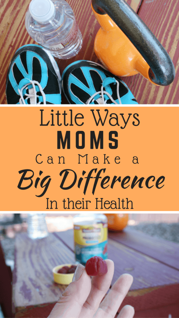 From moving more, portion control and taking a daily probiotic, these are a few little things that moms do that make a big difference in their health. #ad #NatureMadeProbiotics
