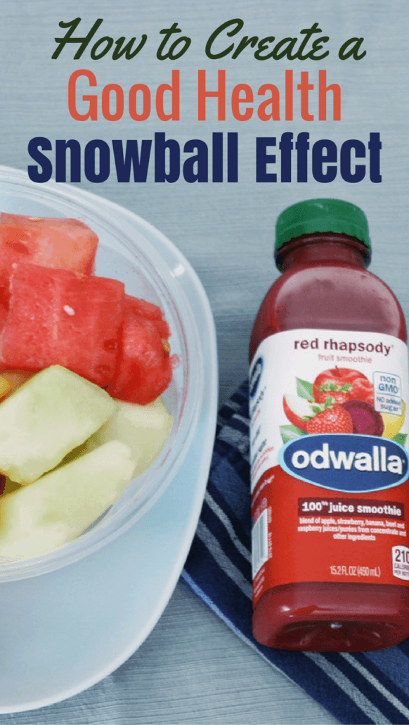 These 5 little ways can help you meet your goals in a good health snowball effect. #NourishOnTheGo #ad