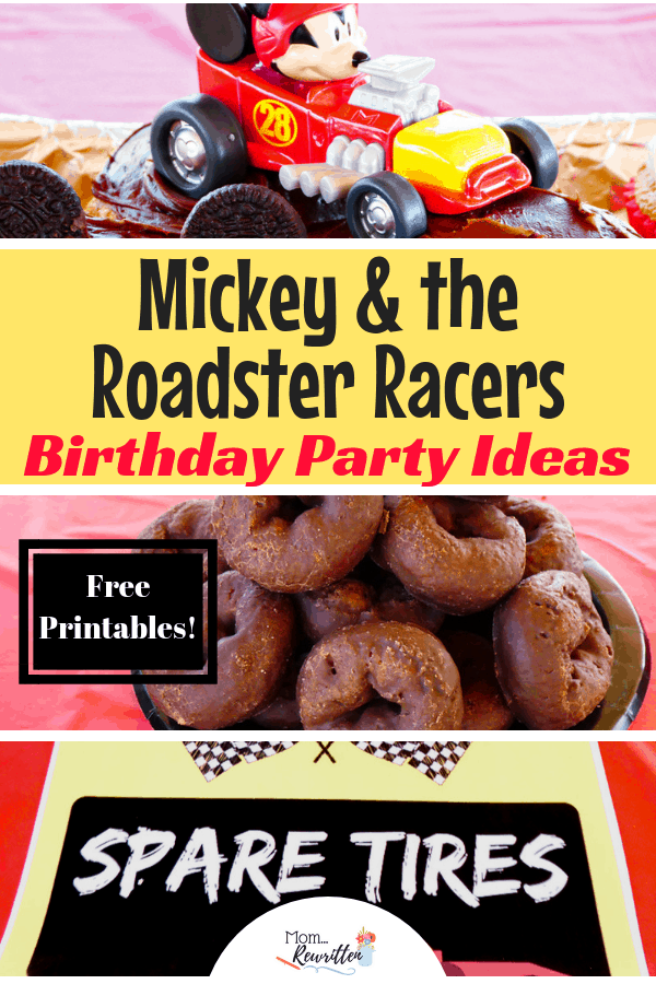 Awesome Mickey and the Roadster Racers birthday party ideas that are quick, easy and inexpensive! Mickey Mouse Roadster Racers from the hit Disney Junior TV show themed around race car driving is a popular birthday party theme for boys and girls. These FREE party decor printables make kid's birthday party planning easy! #Disney #BirthdayParty #Mickey #RoadsterRacers | Kid Birthday | Mickey Party | Disney Party | Birthday Theme