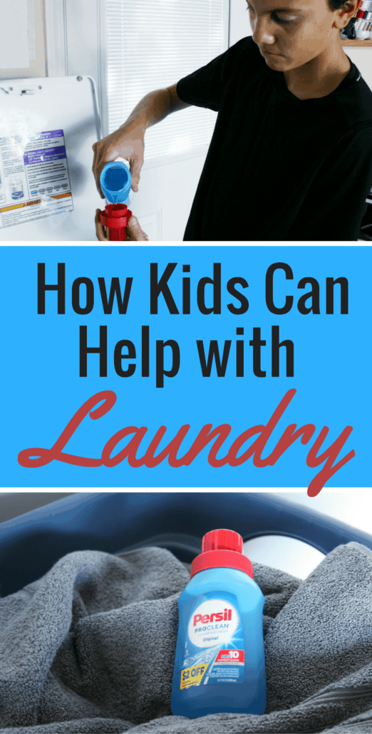 Need help with everyday chores? Enlist the kids! Even younger kids can pitch in - see these kids laundry hacks for ideas on how they can assist with this chore. #PersilLaundry #AD