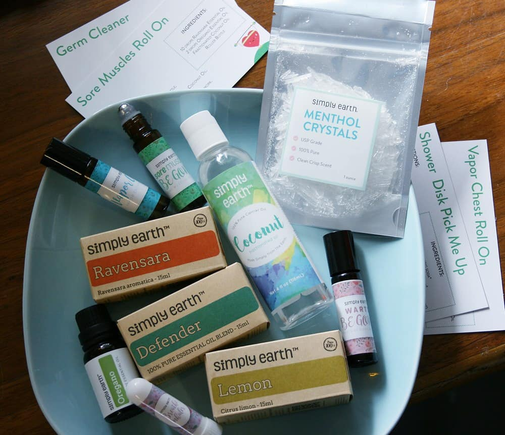 My honest review of Simply Earth and their monthly subscription recipe box with essential oils at reasonable prices.