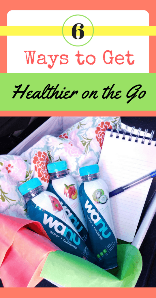 How can moms squeeze in exercise and nutrition on the go? These six ideas can help you get more rested, fit and better hydrated. #NewYearNewWater AD