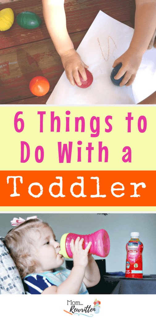 Looking for fun things to do with a toddler? Check out these ideas for brain-boosting games, indoor exercise, toddler-friendly crafts and healthy nutrition. #AD