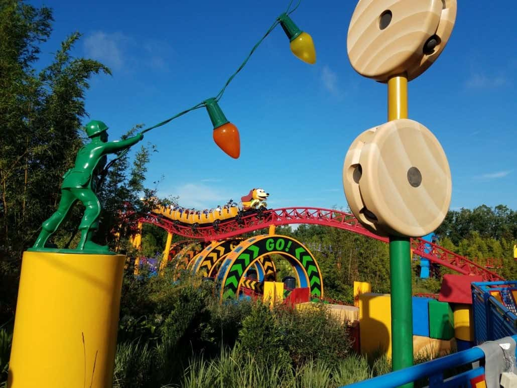 The Ultimate Guide to Toy Story Land with kids includes tips on getting on the best rides, what to eat and where the most popular photo ops are at this new Disney World land inside Hollywood Studios. #ToyStoryLand #TMOM #TMOMDisney #ToyStory #HollywoodStudios #Florida #Orlando #TravelwithKids #FamilyTravel