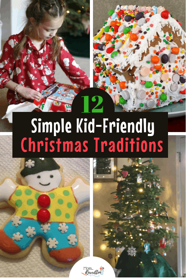 These 12 Christmas traditions for kids keep things simple and memorable for the entire family this holiday season. Find out how to incorporate new traditions with your family favorites this holiday season with kids. #ad #Holidays #Traditions #Christmas #GingerbreadHouse