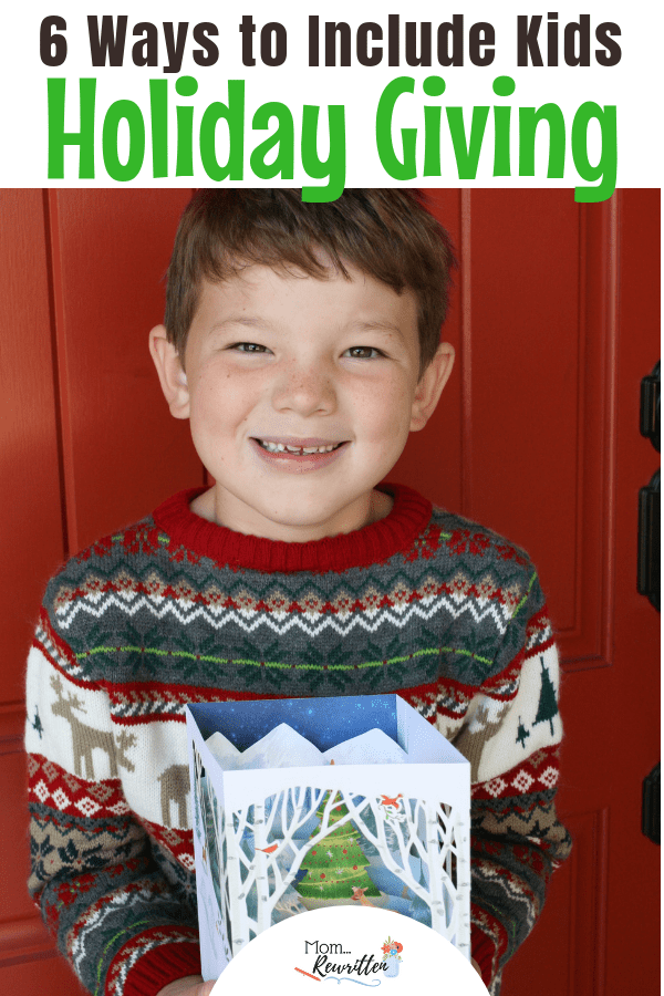 Interested in involving kids in holiday giving this winter? These positive parenting tips are simple and easy. There are over a dozen ways to sweetly involve kids during the Christmas season. AD | Walmart | Hallmark | Christmas giving | Christmas Cards | Holiday Shopping | #HallmarkHolidayMoments