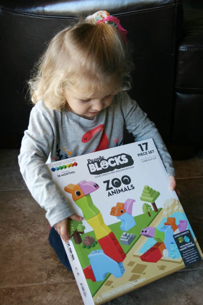 The People Toy Company offers brain-building toys for babies and toddlers, including the People Blocks Zoo Animals.